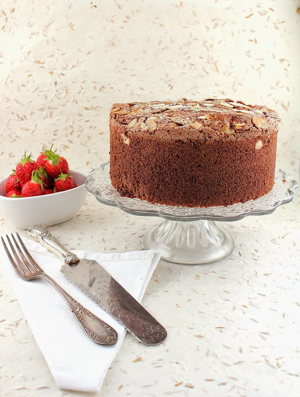 Cocoa espresso almond sponge cake for passover gluten