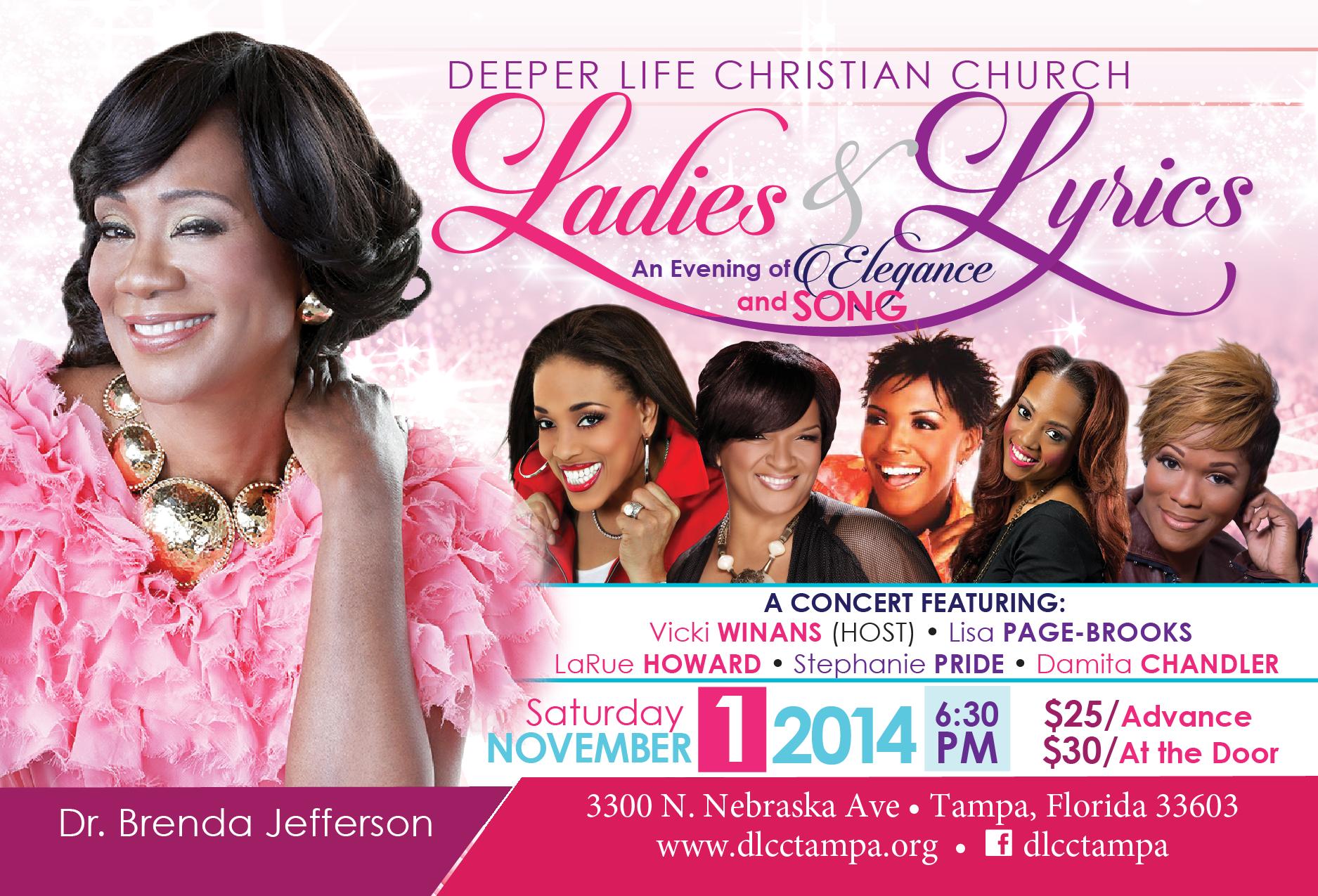Deeper Life Christian Church 3300 N Nebraska Ave Tampa Fl 33605 Bishop M B Jefferson Dr Brenda Jefferson Website Lady Lyrics Church Events Deeper Life