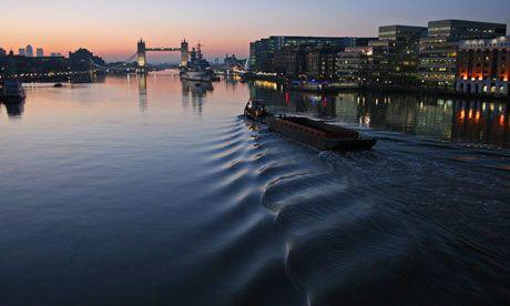 The Thames, with London Bridge. Photograph: Reuters