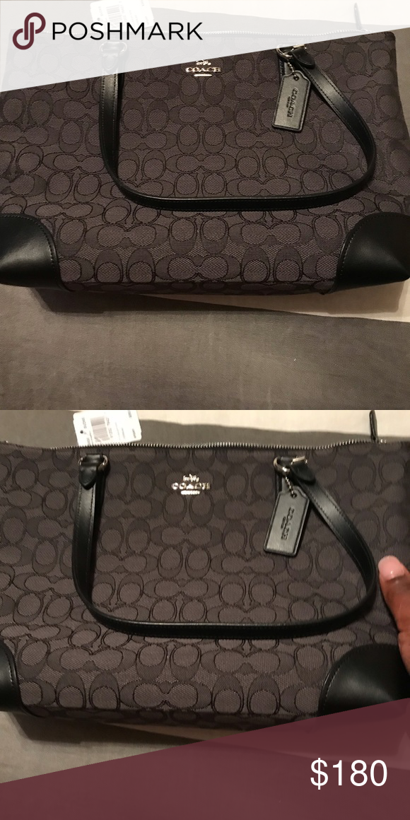 Authentic Coach Signature Jacquard in Black Signature Coach Jacquard Cloth  in black. Never used! Coach Bags Shoulder Bags 2be7b69f6b