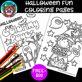 Free Halloween Fun Coloring Pages By Scrappin Doodles Tpt In 2020 Cool Coloring Pages Coloring Pages Halloween Coloring Book