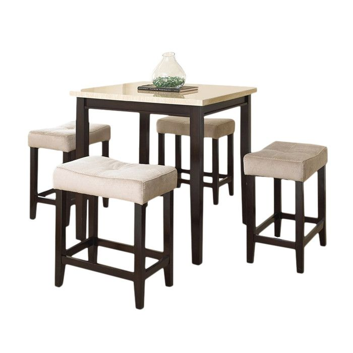 Logan Counter Height Dining Room Table And Barstools Set Of 5. steve ...