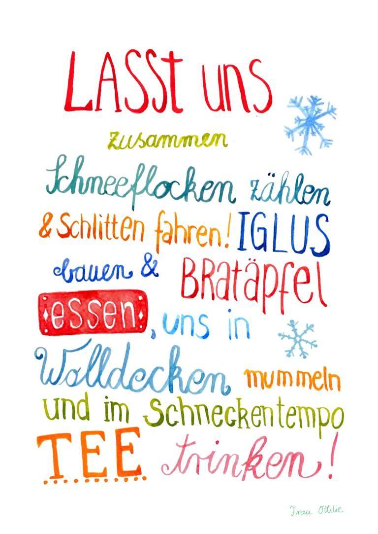 Print *Winter* von Frau Ottilie #weihnachtskartenspruch