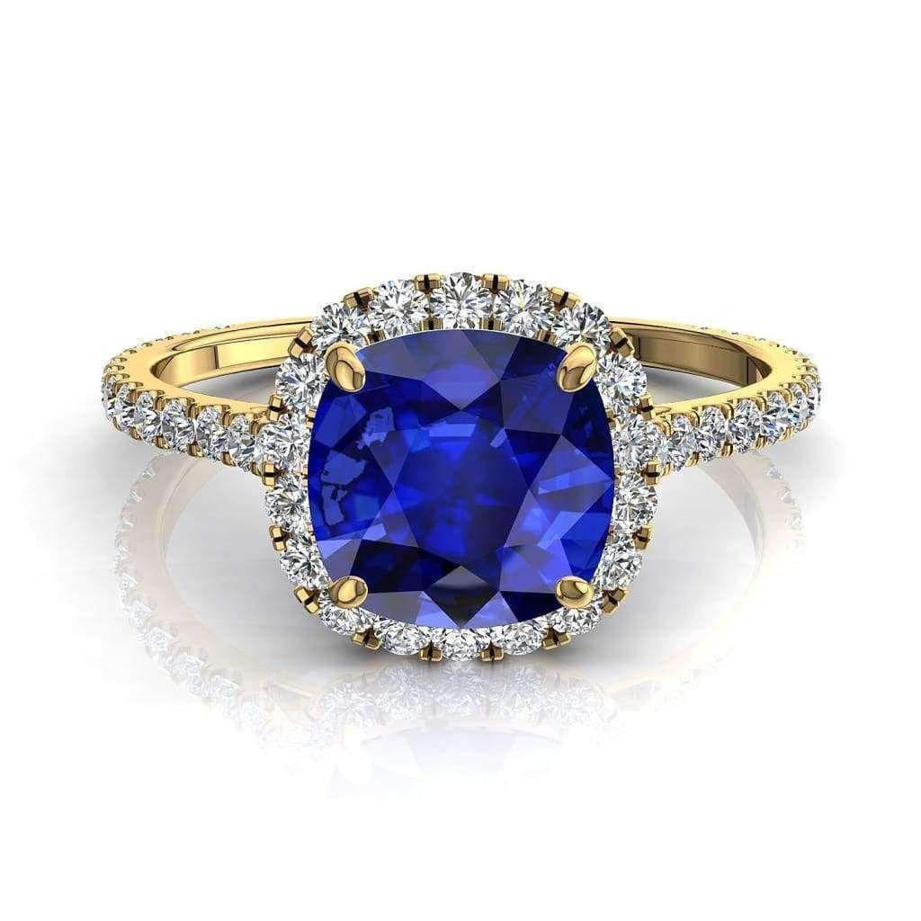 bague solitaire saphir diamant