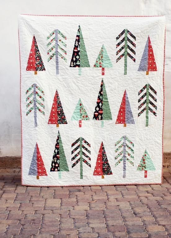 Pinetop Quilt By Lindsey Neill Craftsy Modern Christmas Quilt Christmas Tree Quilt Christmas Quilt Patterns