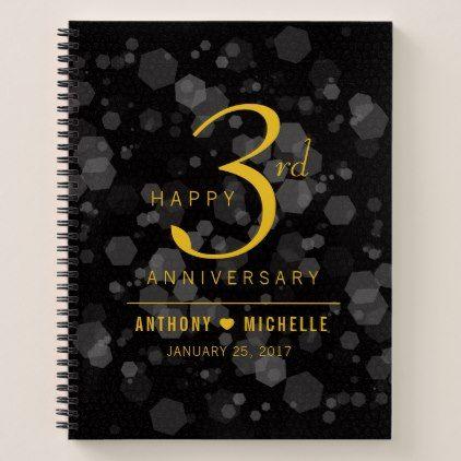 Elegant 3rd Leather Wedding Anniversary Notebook Gifts Ideas Diy Celebration Cyo Unique