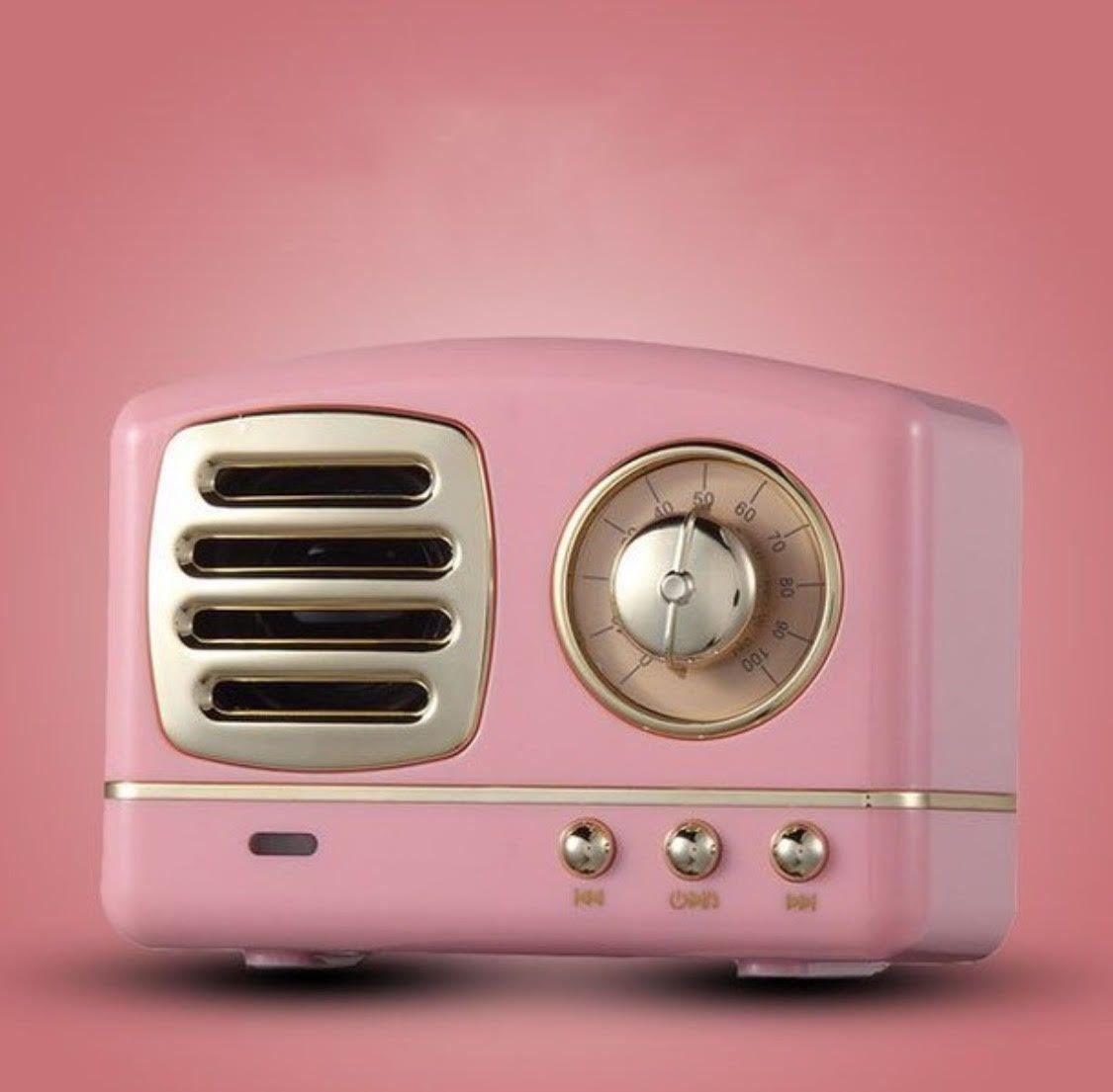 Mini Pink Retro Radio Bluetooth Speaker Pink Speaker Travel Speaker Retro Radios Retro Home Decor Retro Home