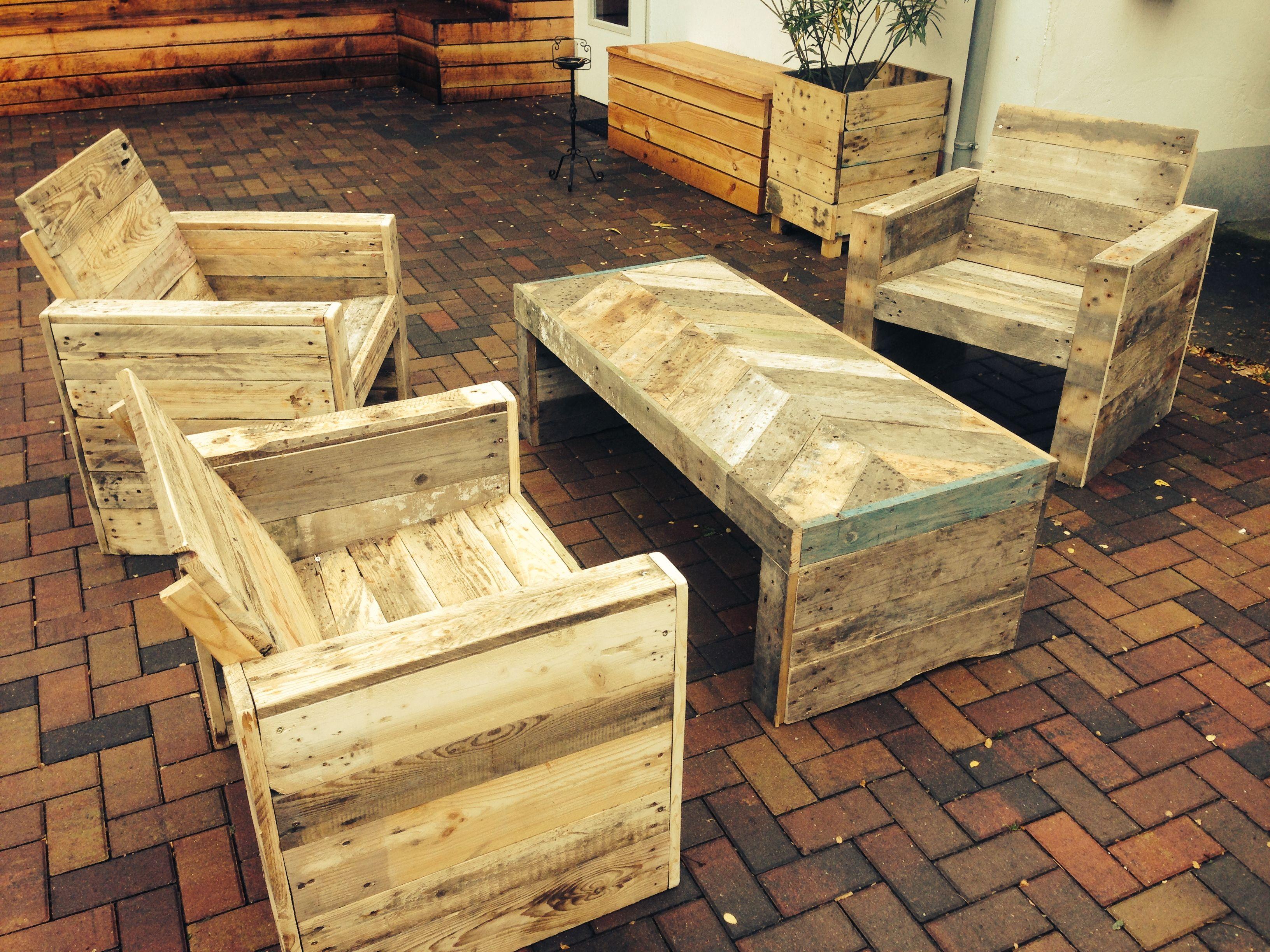 Palettenholz Gartenmöbel 2 Paletten Pro Stuhl 3 Paletten Für Tisch
