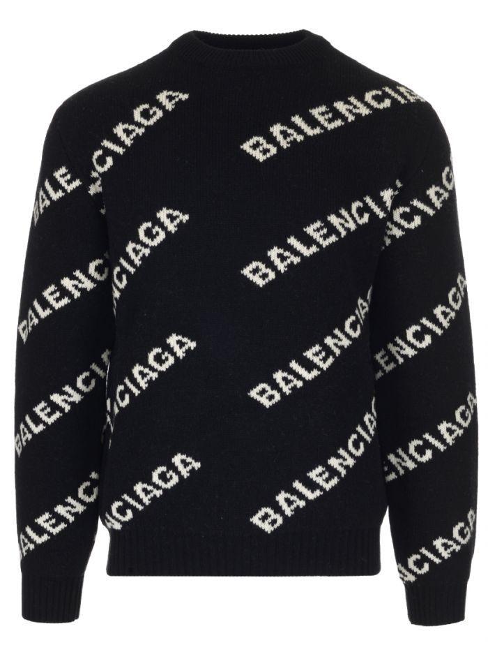 BALENCIAGA All,over Logo sweater. balenciaga cloth