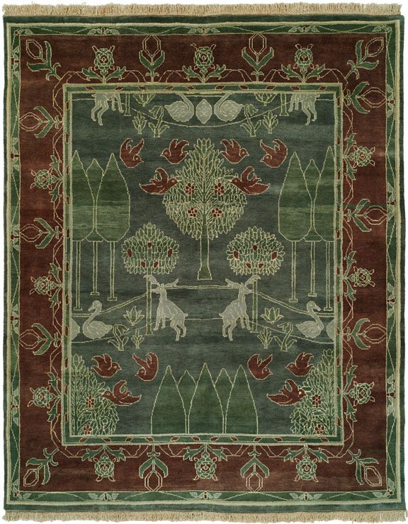 27+ Arts and crafts rugs green ideas