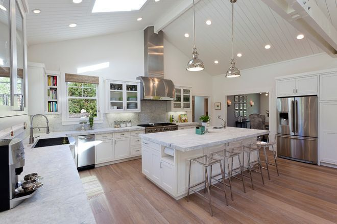 How to make a ranch house cathedral ceilings google for How to build a cathedral ceiling