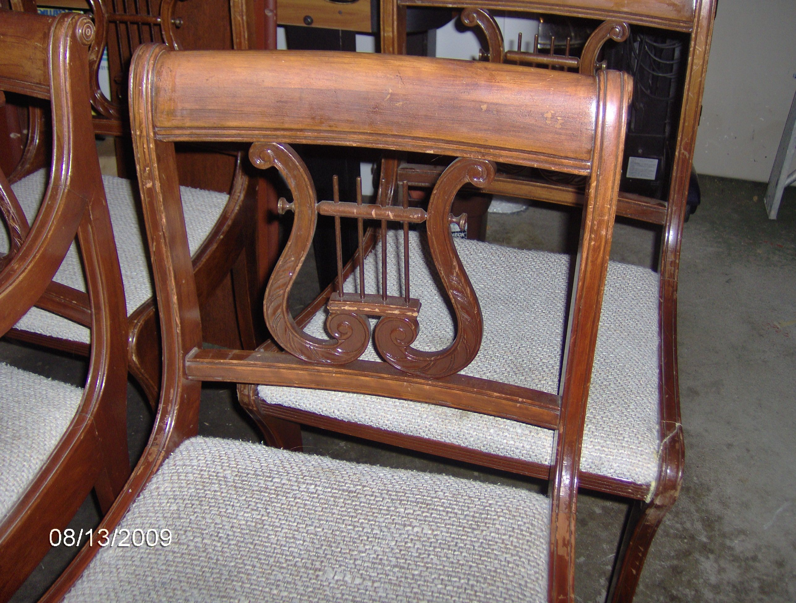 antique and vintage table and chairs
