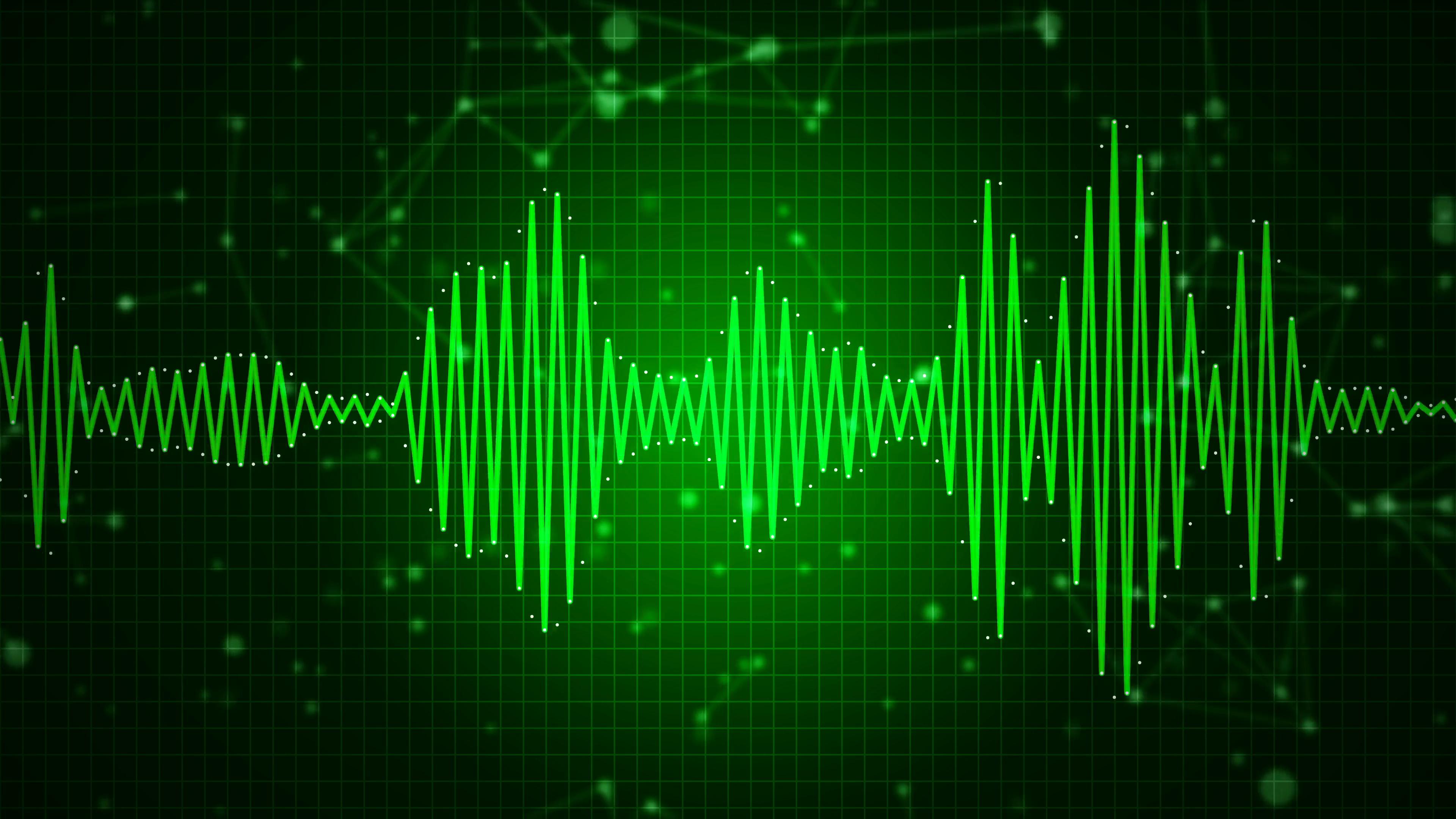 Animated Audio Sound Waveform Spectrum Sound Waves On Green Meninas Comic Art Meninas