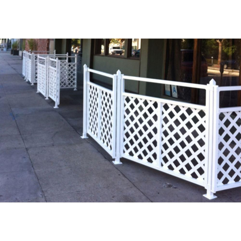 Snapfence 2 Ft 7 5 In X 4 Ft W White Modular Vinyl Lattice Fence Panel 4 Pack Vflp 1 The Home Depot In 2020 Lattice Fence Panels Lattice Fence Privacy Lattice Panels