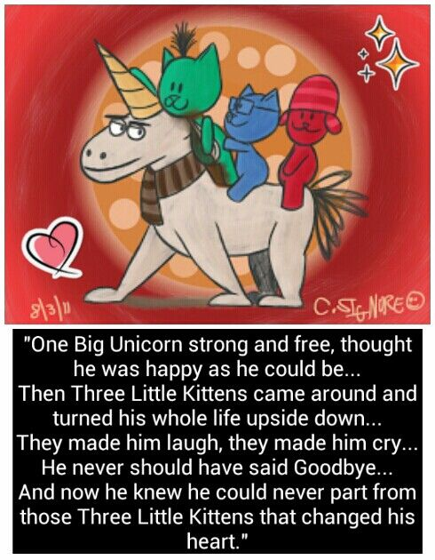 One Big Unicorn And The Three Little Kittens Best Kid Movies Best Kids Movies Ever Little Kittens