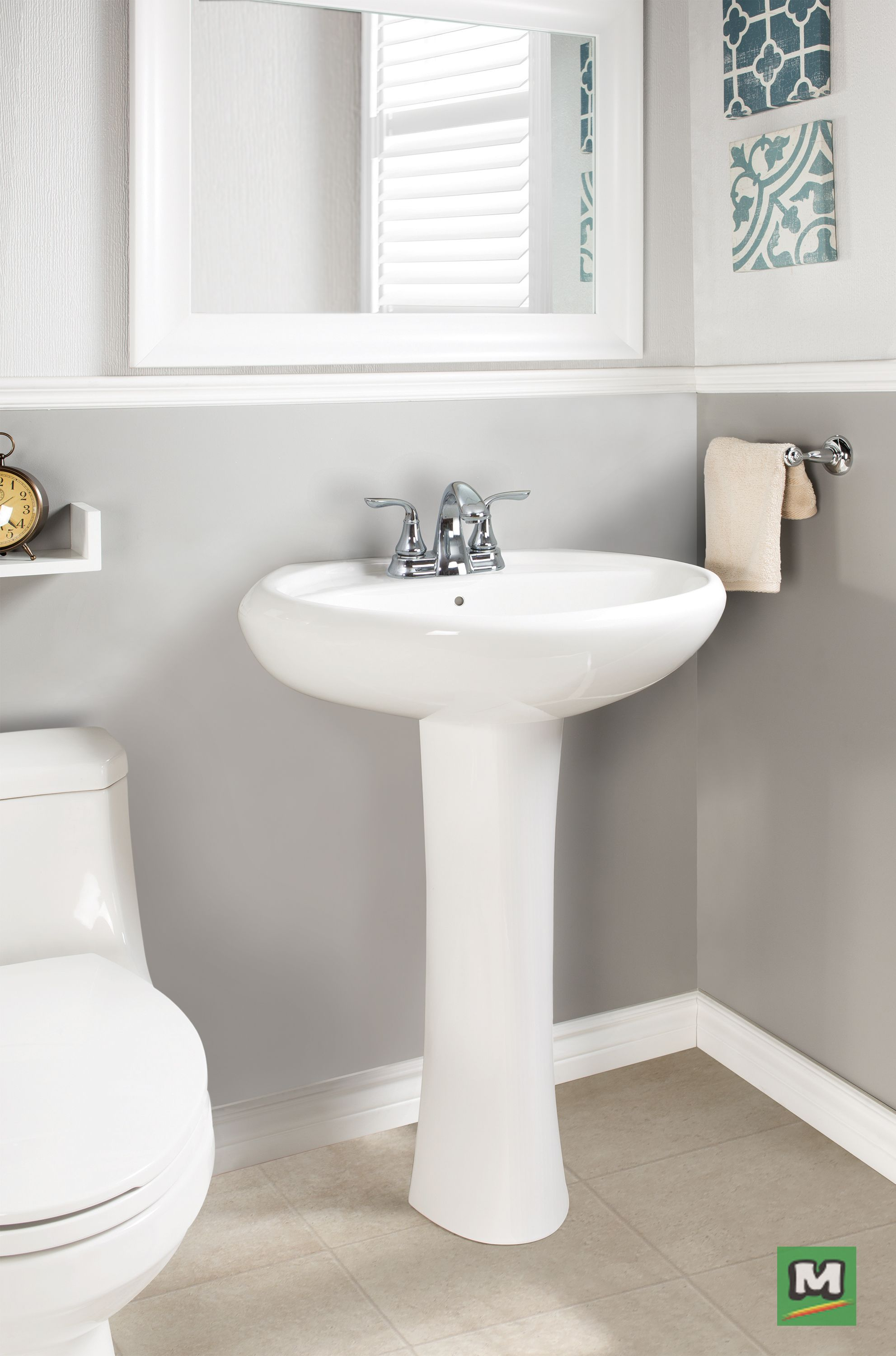 The Frederic Pedestal Sink Kit Makes Updating Your Bathroom A