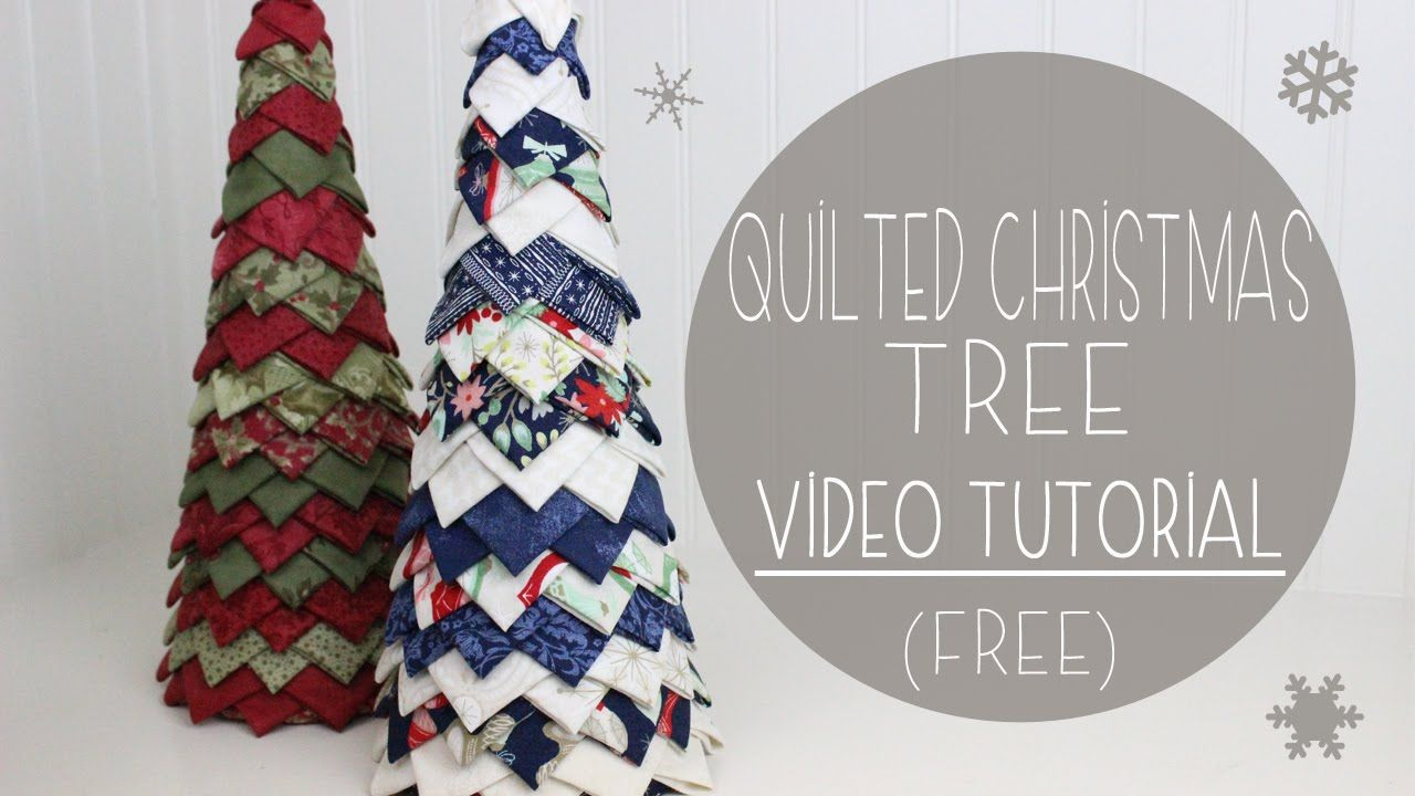 No sew quilted christmas tree tutorial free pattern easy no sew quilted christmas tree tutorial free pattern easy beginner craft diy do it yourself video tutorial youtube solutioingenieria Gallery