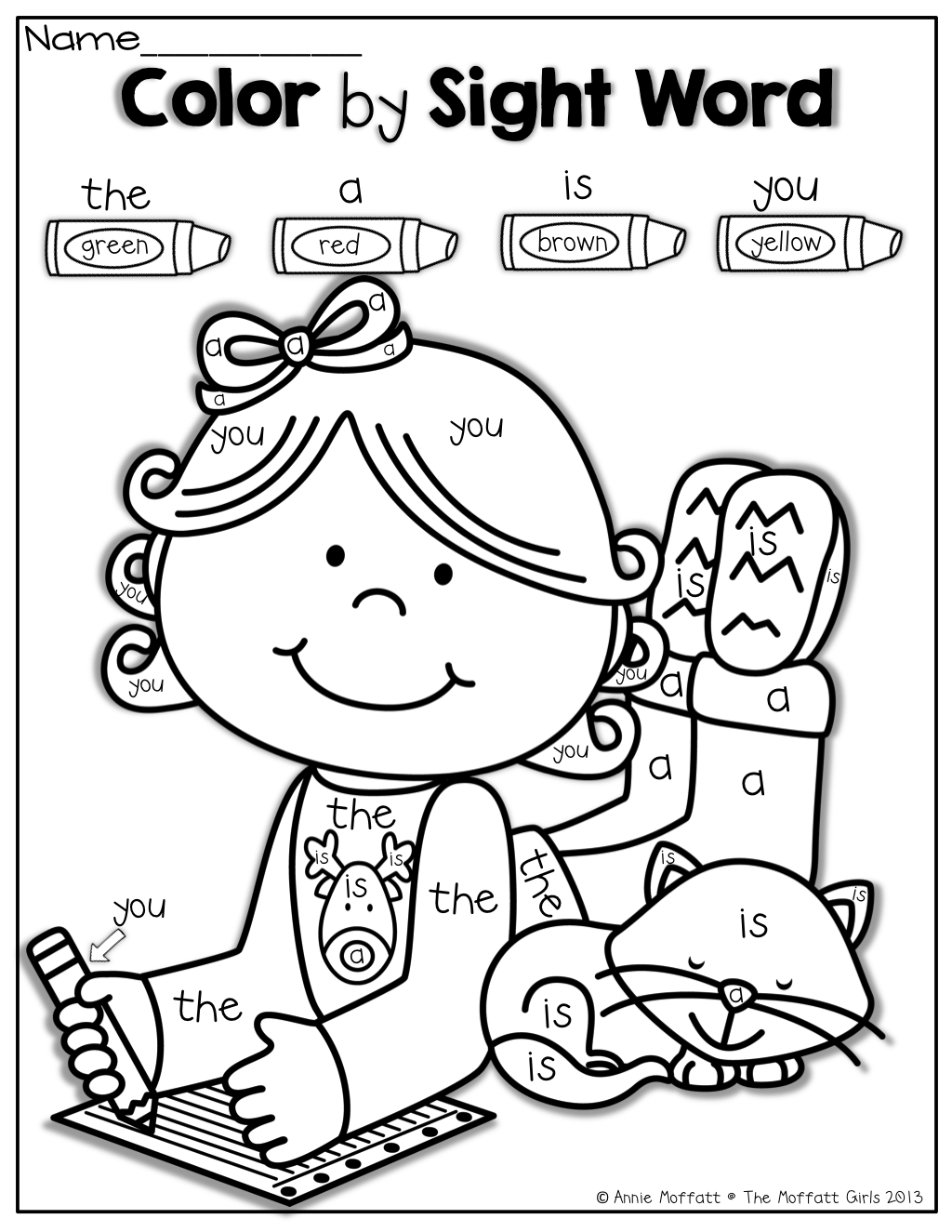 Worksheets Color By Sight Word Worksheets color by sight word december pinterest kindergarten school word