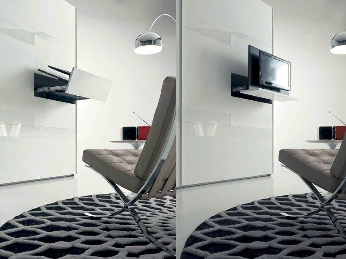 SWIVEL RETRACTABLE TV CABINET GHOST | FIMAR