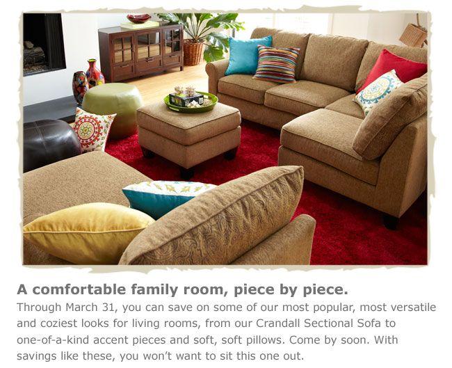 Crandall Sectional Sofa  Pier One