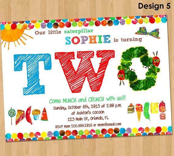 very hungry caterpillar invitations - Google Search Charityu0027s - fresh invitation for birthday party by email