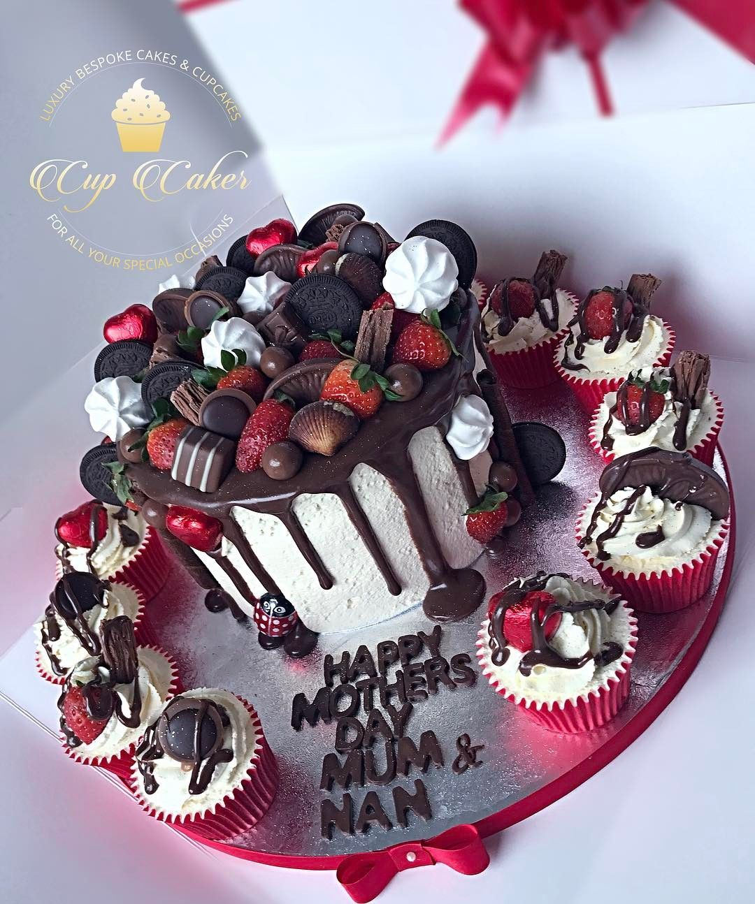 Mother S Day Should Be Every Day Freshcream Cake Cupcakes Stawberries Chocolate Partyinstyle Halal Bradford Leeds Keighly Fresh Cream Cake Food
