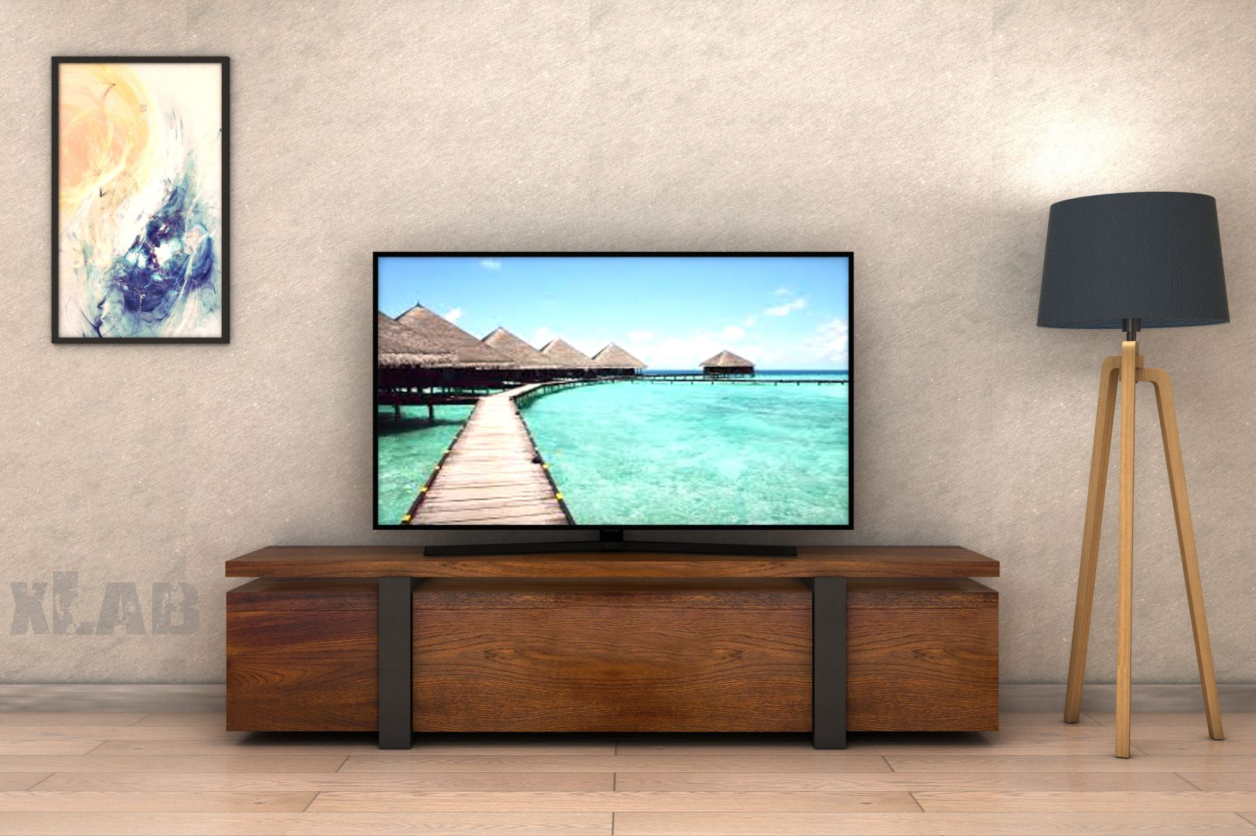Mobile Tv In Legno.Mobile Tv In Legno Di Noce Mobiletv Portatv Home Design