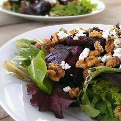 """Beet Salad with Goat Cheese I """"Wonderfully festive! It is so tasty, that people…"""