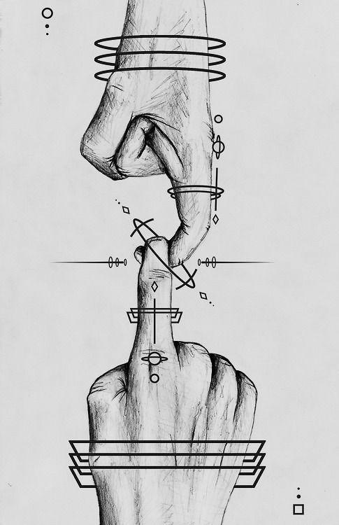 Photo of Hände, Kunst und Galaxienbild