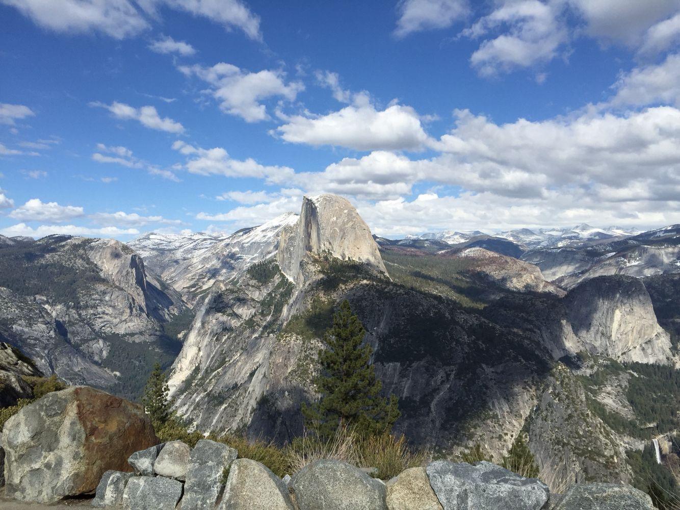 Half Dome. View from Glacier Point #yosemite