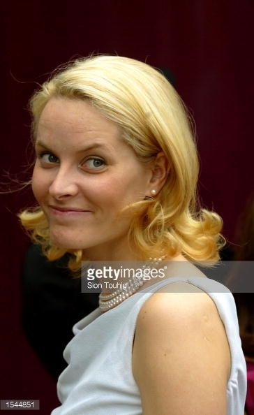 Princess Mette Marit of Norway poses for photographers May 23, 2002 as she arrives for a reception hosted by the Norwegian Government in Trondheim, Norway. Princess Martha Louise and Ari Behn will...