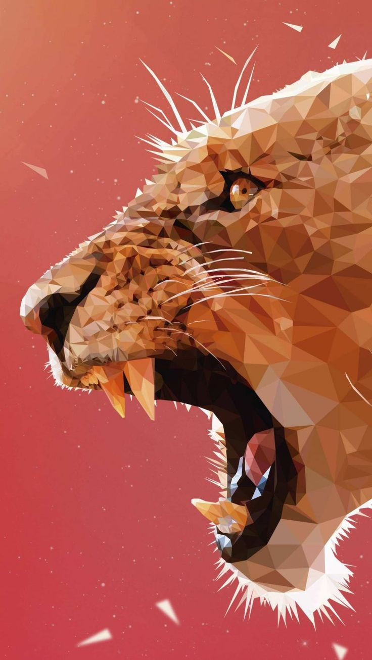 Android Wallpaper - Lion Polygon Art Wallpaper - Android ...