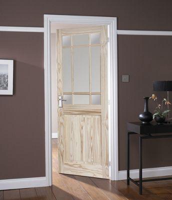 Kensington 9 Light Clear Pine Glazed Internal Door - 762mm Wide | Homebase & Kensington 9 Light Clear Pine Glazed Internal Door - 762mm Wide ...