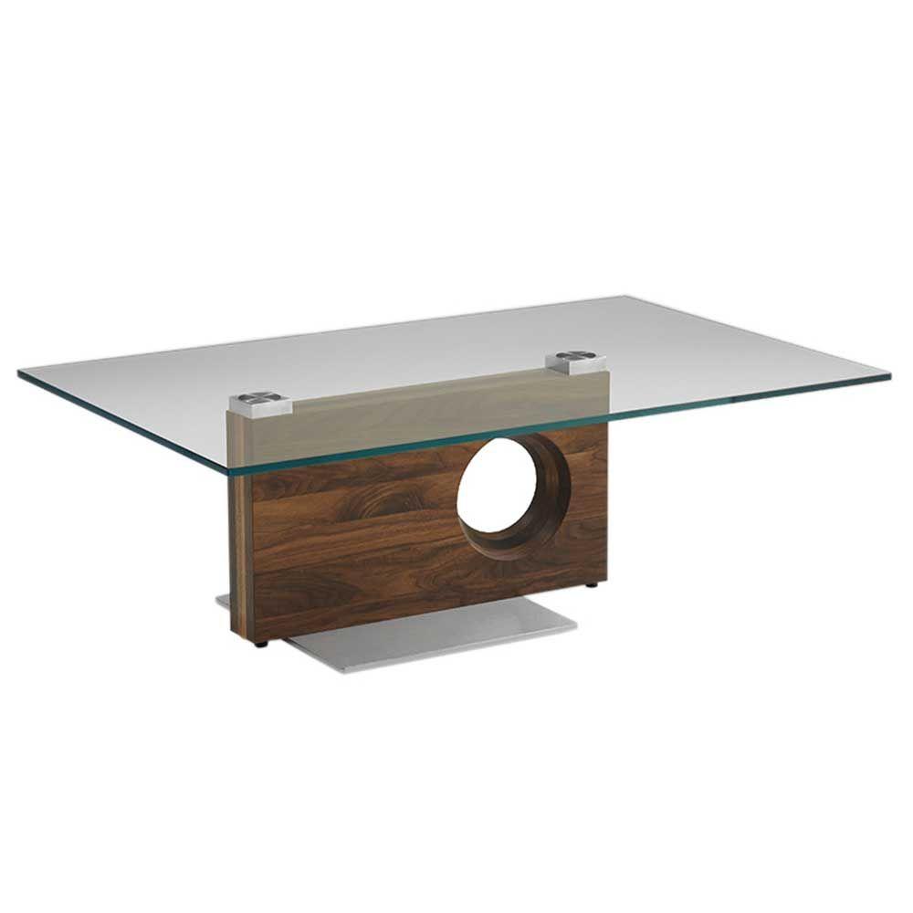 the latest 43a37 5d22e Kandu Glass Coffee Table, Colorado Walnut - Barker ...