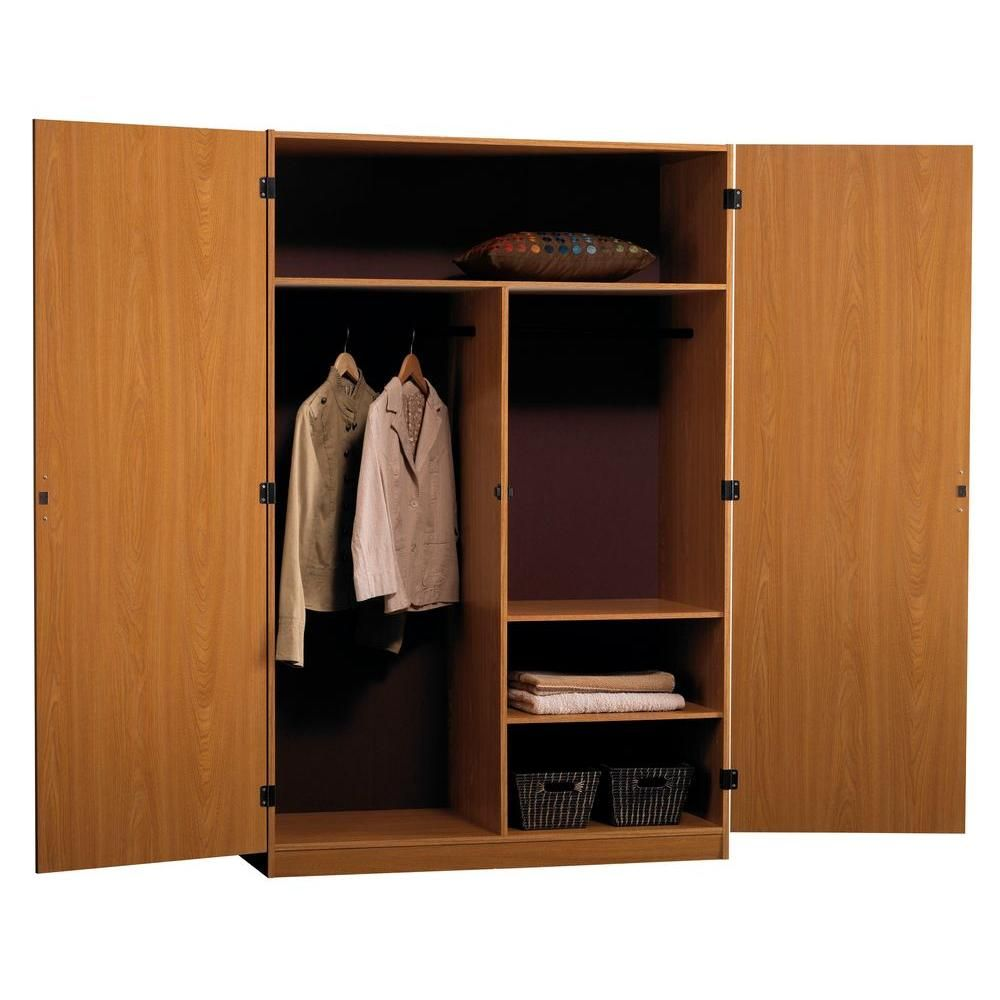 Wonderful Ameriwood SystemBuild Jennings 48 In. Wardrobe Storage Closet, City  Oak 9155   The Home Depot