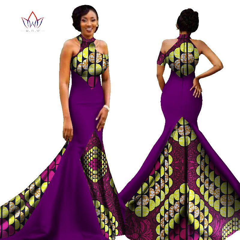 2017 mujeres africanas vestidos largos rocío hombros mujeres formal ...