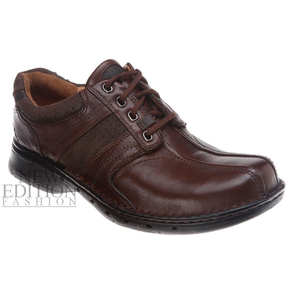 5e6fa9ece602 Clarks Un.Coil Men Unstructured Premium Leather Comfort Shoe Lace Up Brown  85022  Clarks  Oxfords