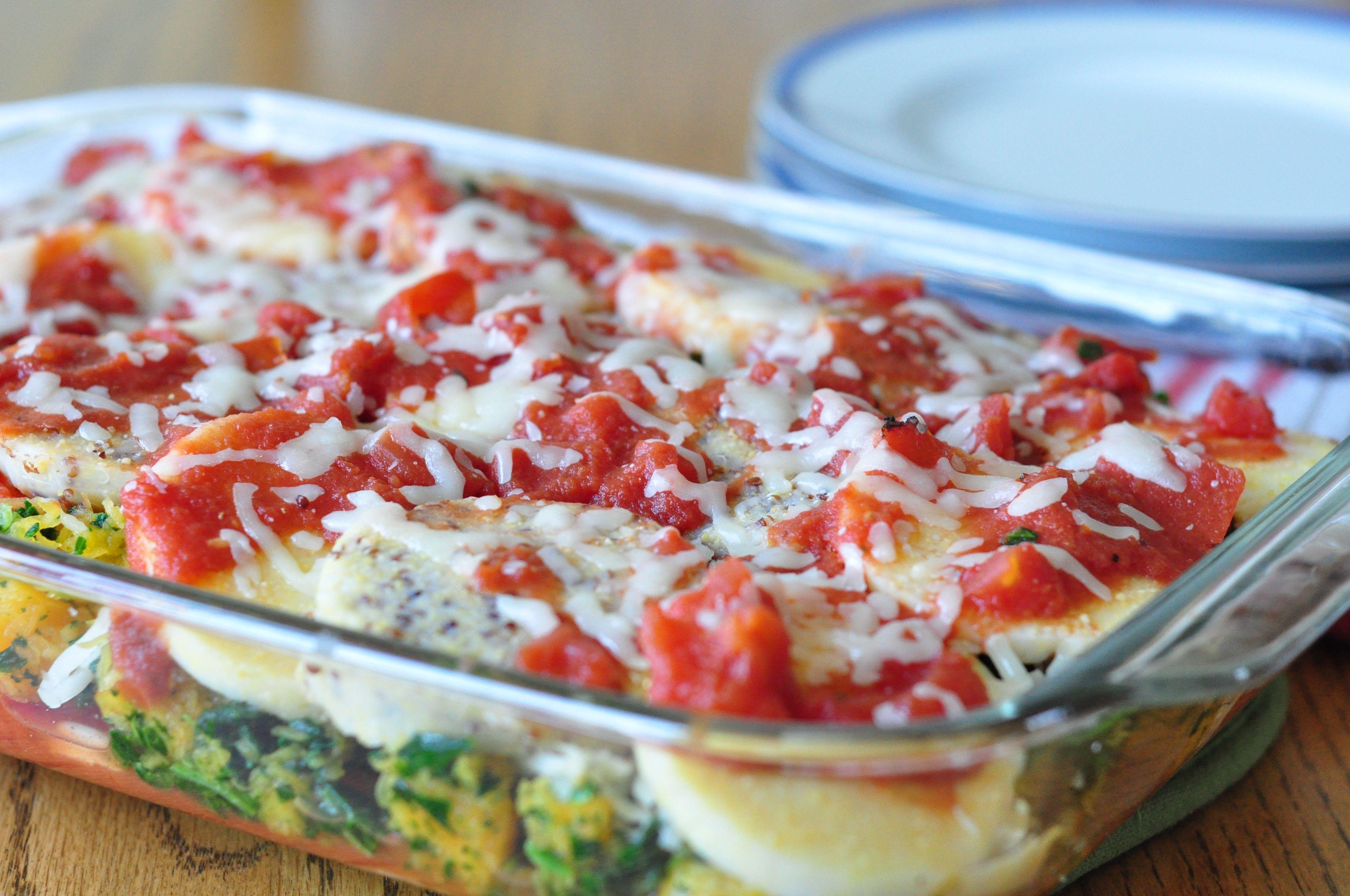 Spinach and Butternut Squash Quinoa Polenta Lasagna ...
