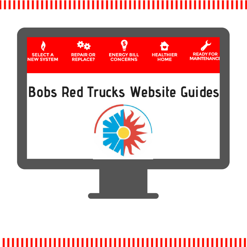 Bobs Red Trucks Website Guides Red truck, Heating and