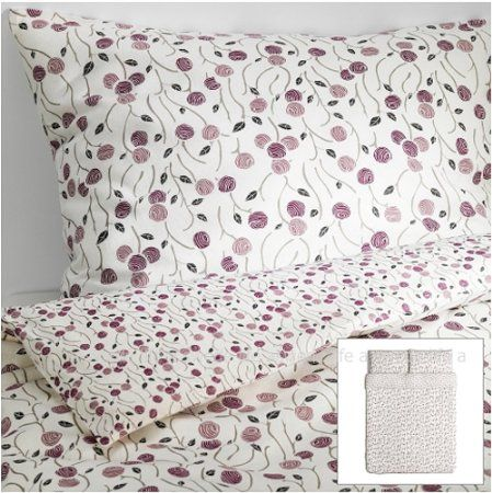 Amazon.com: Ikea Cottage Majviva Purple Gray Lilac Floral Duvet Quilt Cover Full Queen: Everything Else