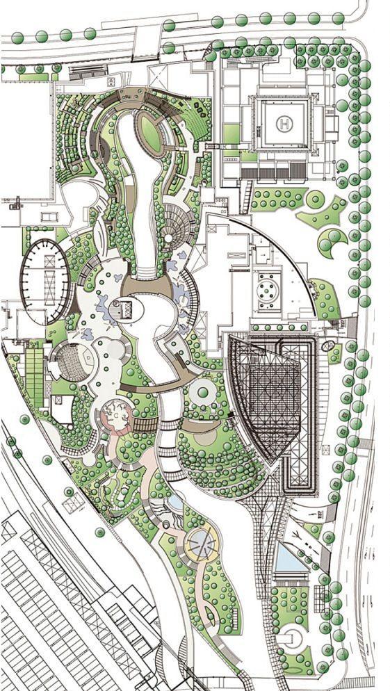 Namba park in osaka by jerde partnership dwelling for Master plan landscape architecture