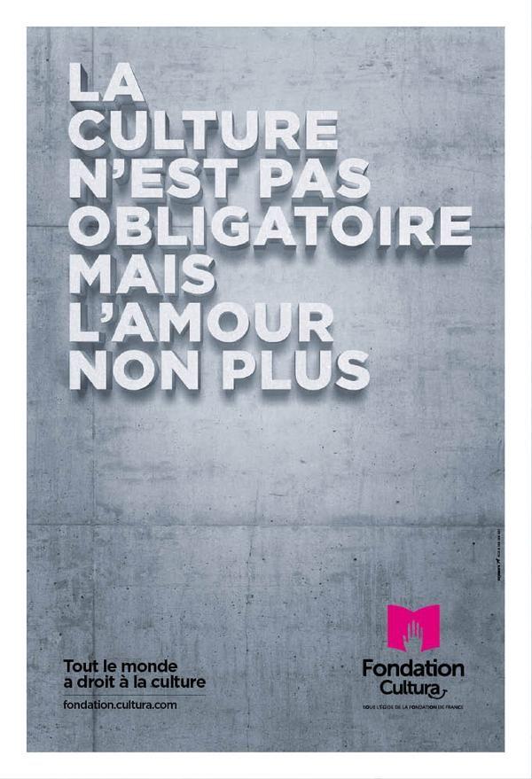 Campagne fondation cultura par st john 39 s la culture n 39 est - Tout a l egout obligatoire ...