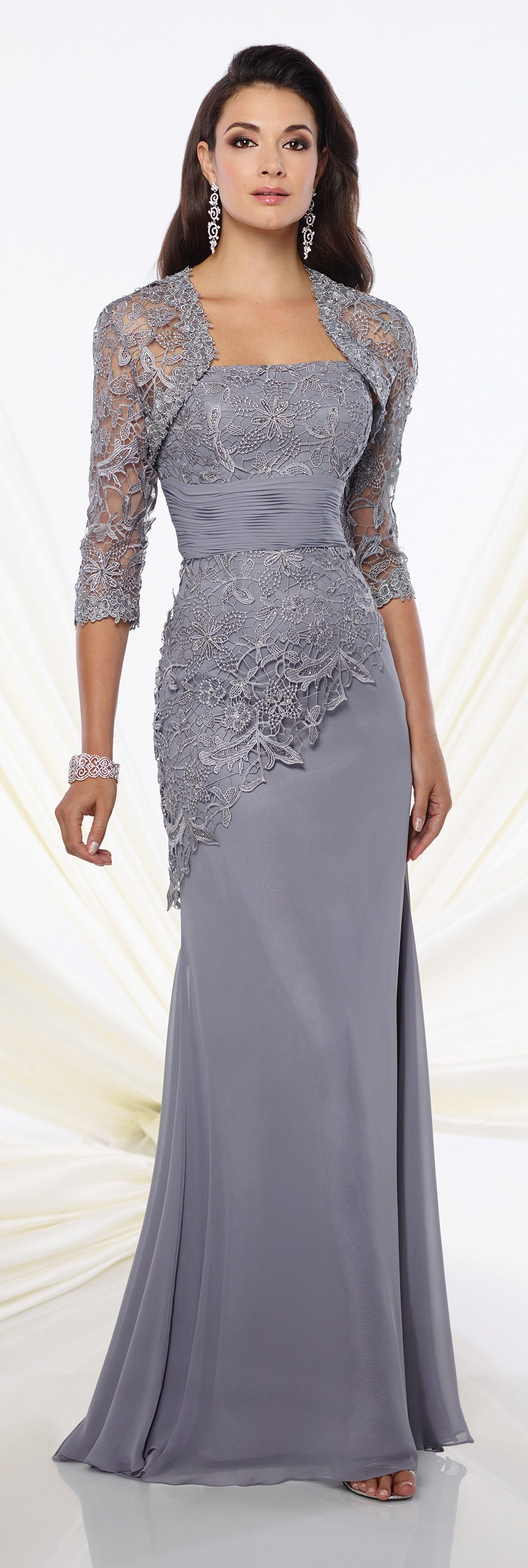 Taffeta and Tulle Trumpet Dress Montage | Formal evening gowns ...
