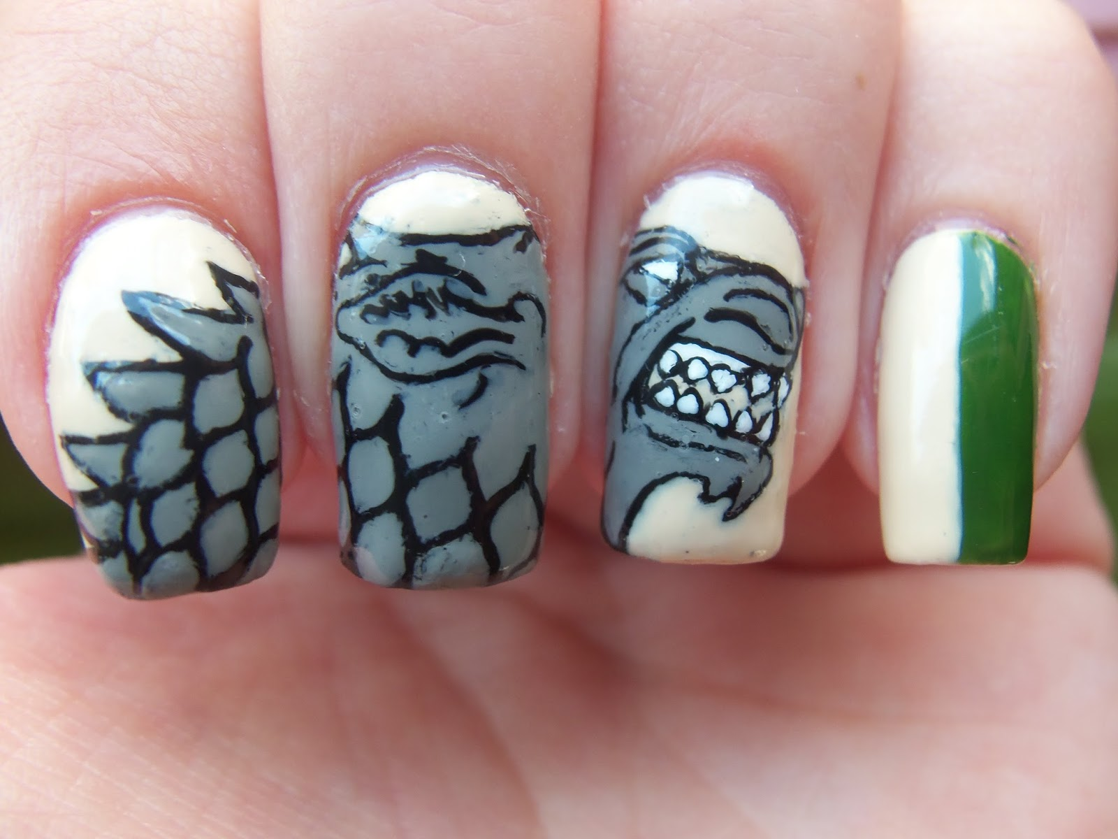 Meg\'s Manicures: Game Of Thrones: House Stark #nail #nails #nailart ...