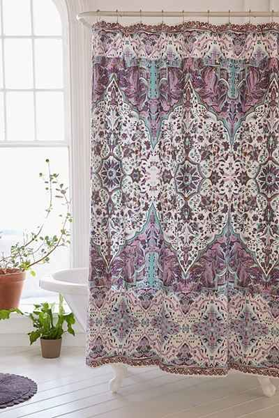 Plum Bow Anza Tiled Medallion Shower Curtain Urban Outfitters Purple Shower Curtain Boho Shower Curtain Urban Outfitters Curtains