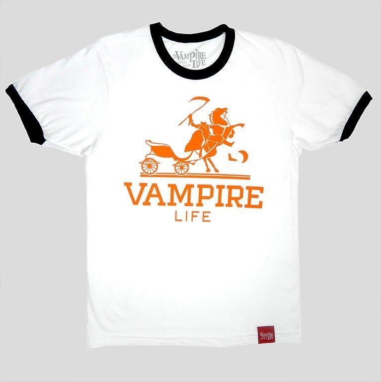 90d608d11 VAMPIRE LIFE HERMES LOGO Graphic Tee By JIM JONES 100% Cotton Grey T-Shirt # VampireLife #GraphicTee