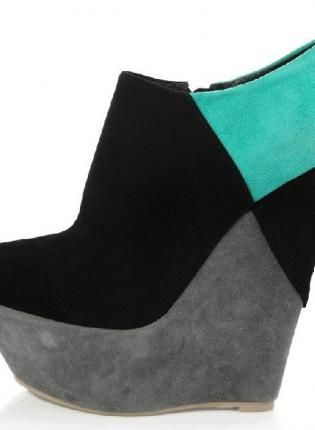 LU-C78 Color Bloked,  Shoes, wedge sneaker shoes, Chic