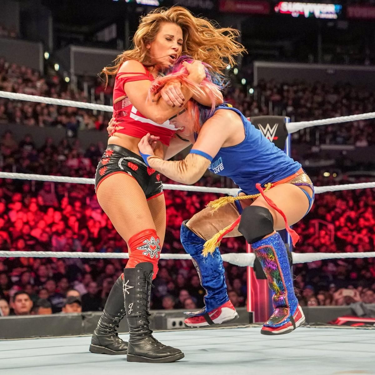 Photos: Raw and SmackDown Women brawl for brand supremacy | Survivor series,  Mickie james, Women