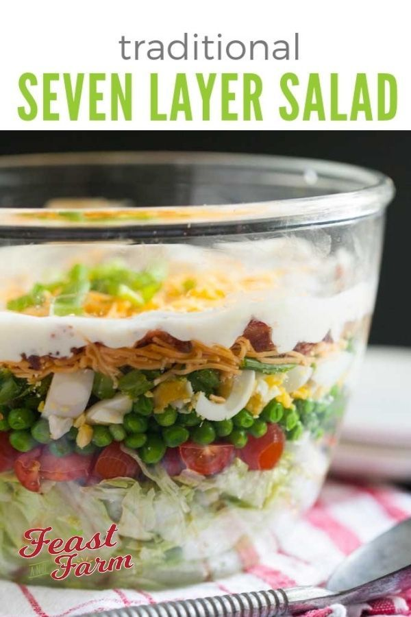 Traditional Southern Seven Layer Salad Recipe Seven Layer Salad Layered Salad Layered Salad Recipes