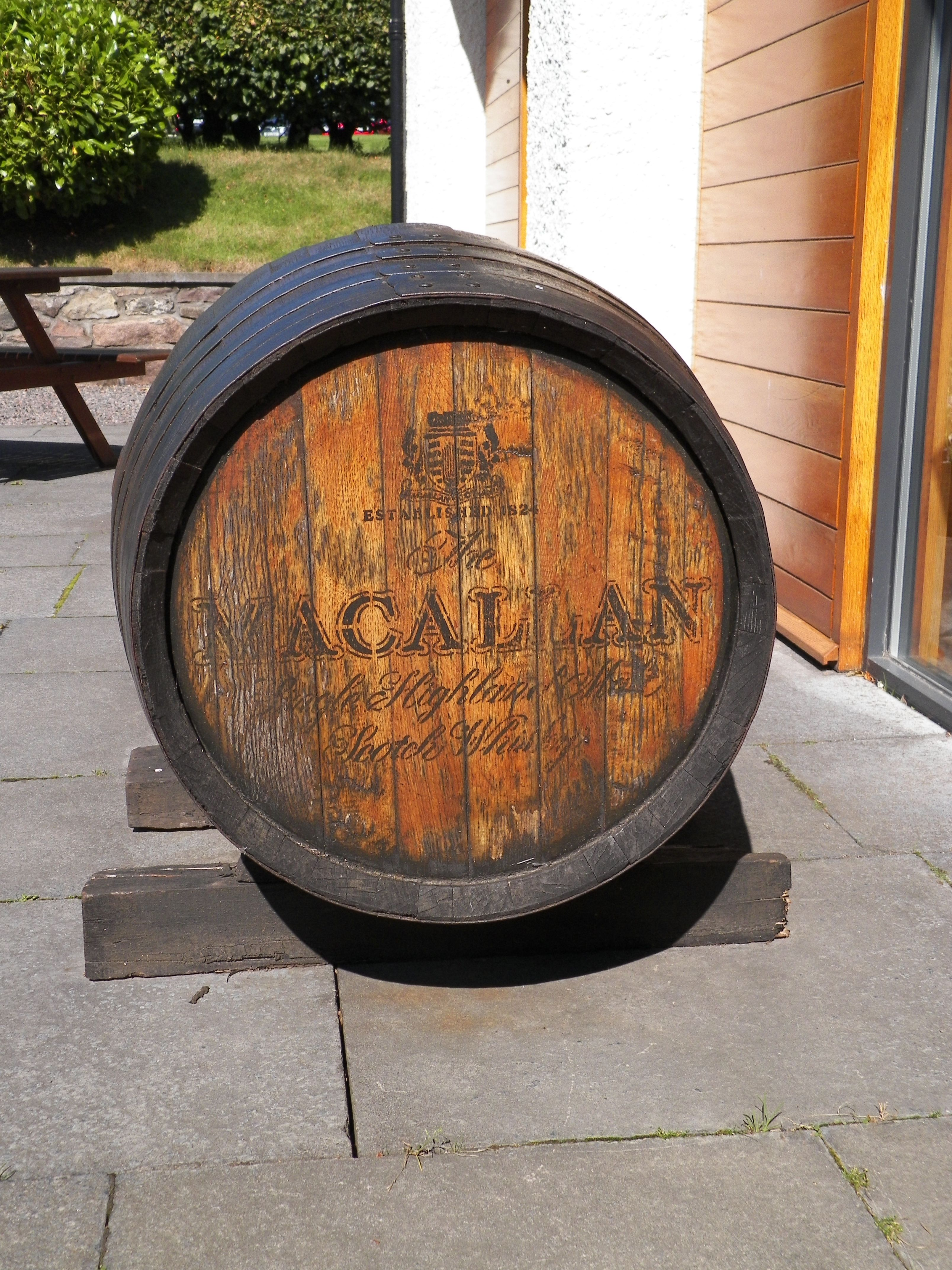 Furniture made from macallan whisky cask holiday cottage